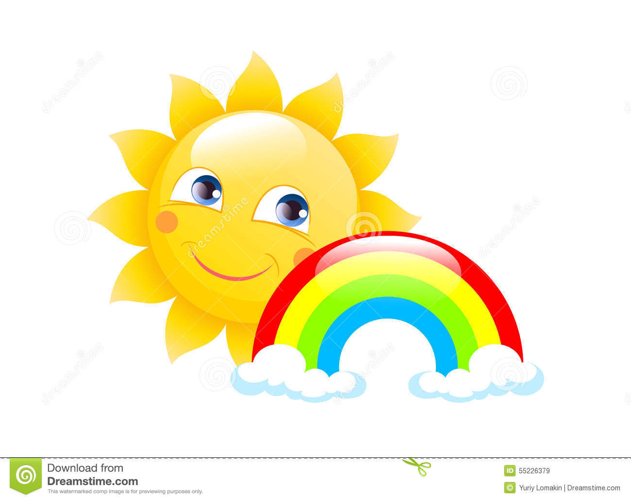 Sun Logo On A White Background Stock Illustration Image