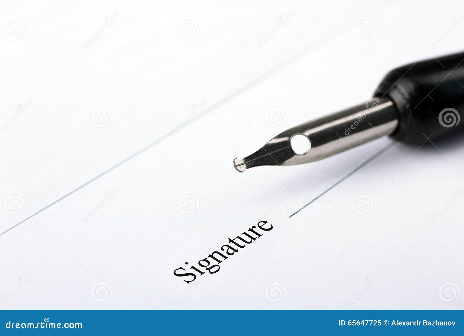 Signature d un contrat