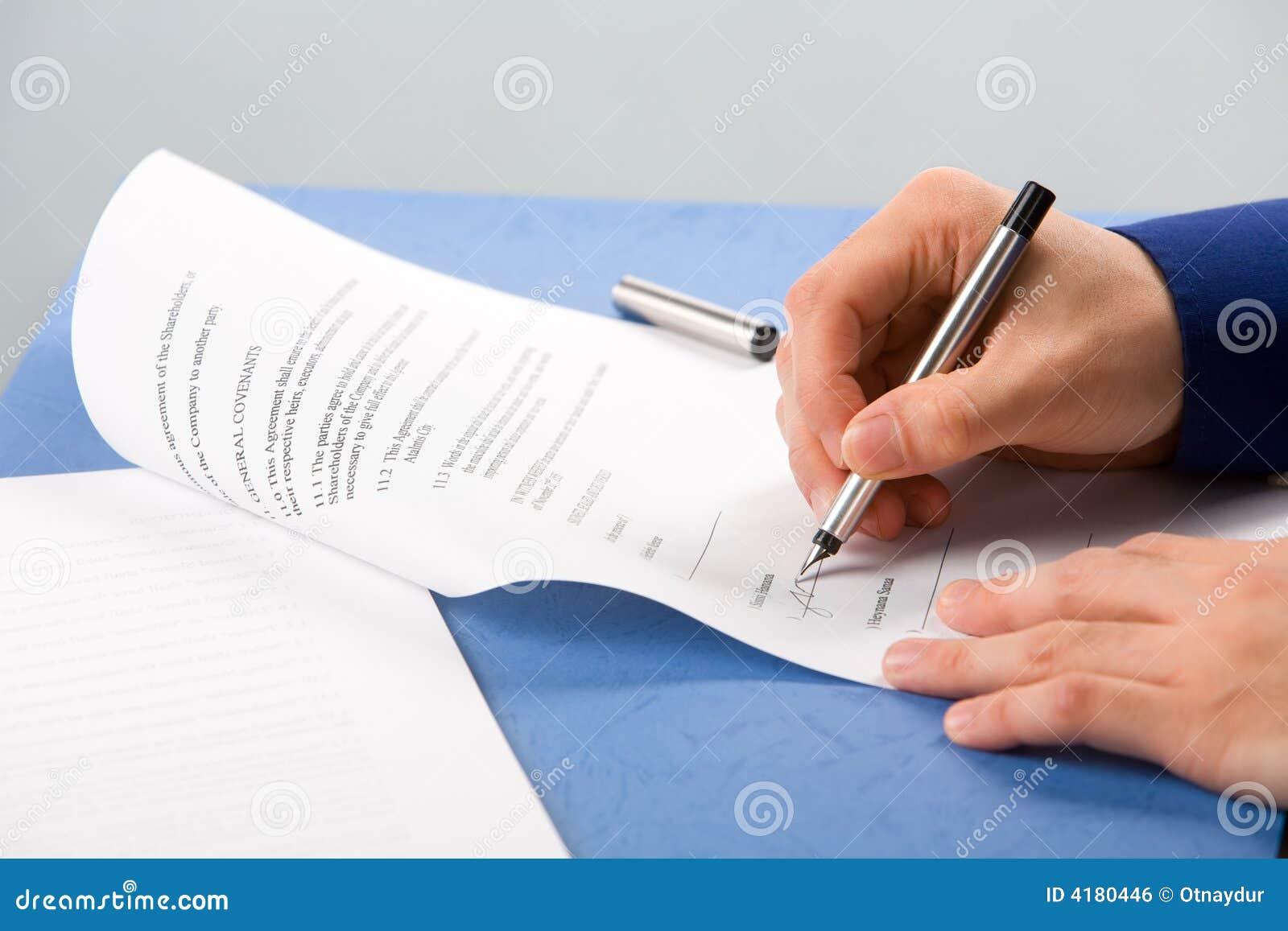 Signature du document