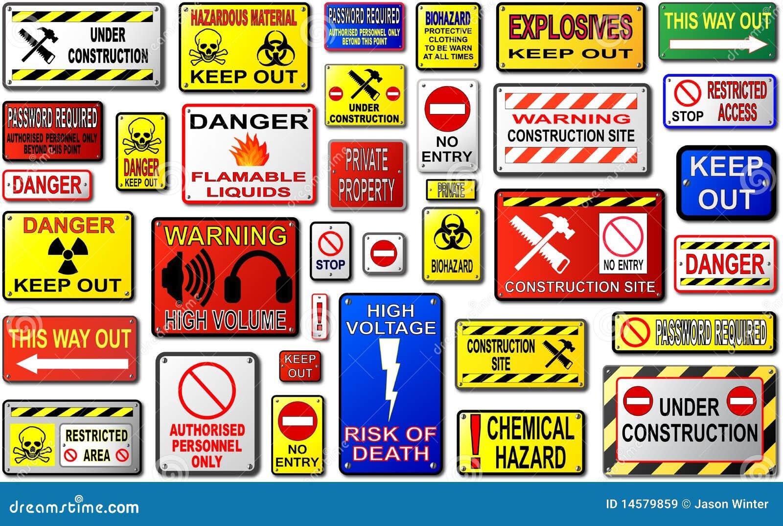 Signaux d avertissement