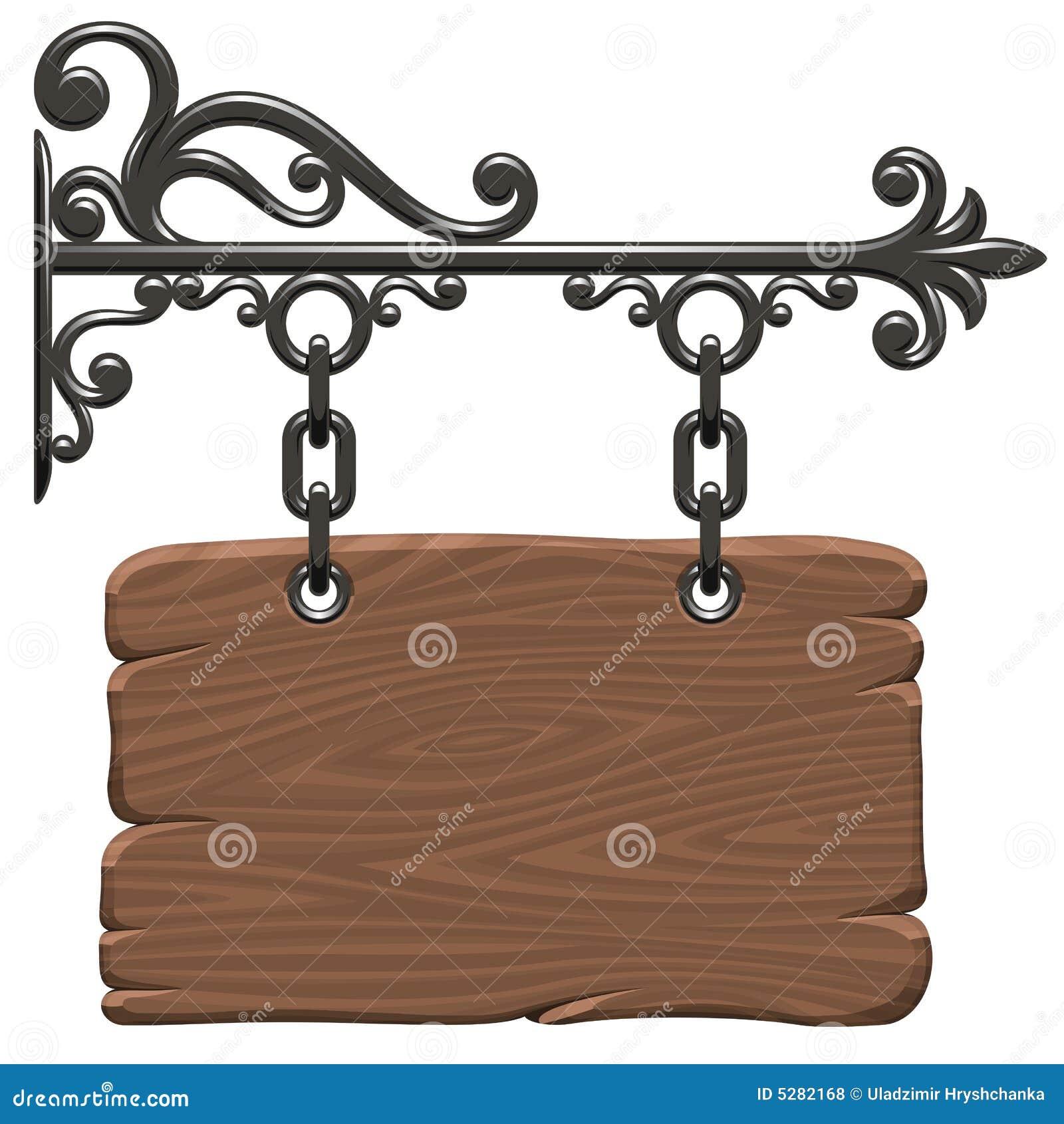 Signboard деревянный
