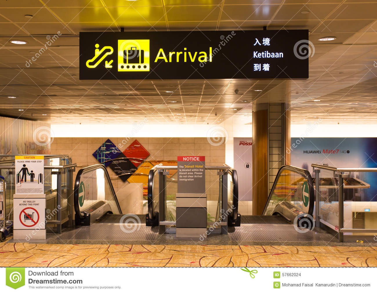 Signboard Of Arrival In The Airport Editorial Stock Image Image Of Infrastructure Shopping 57662024