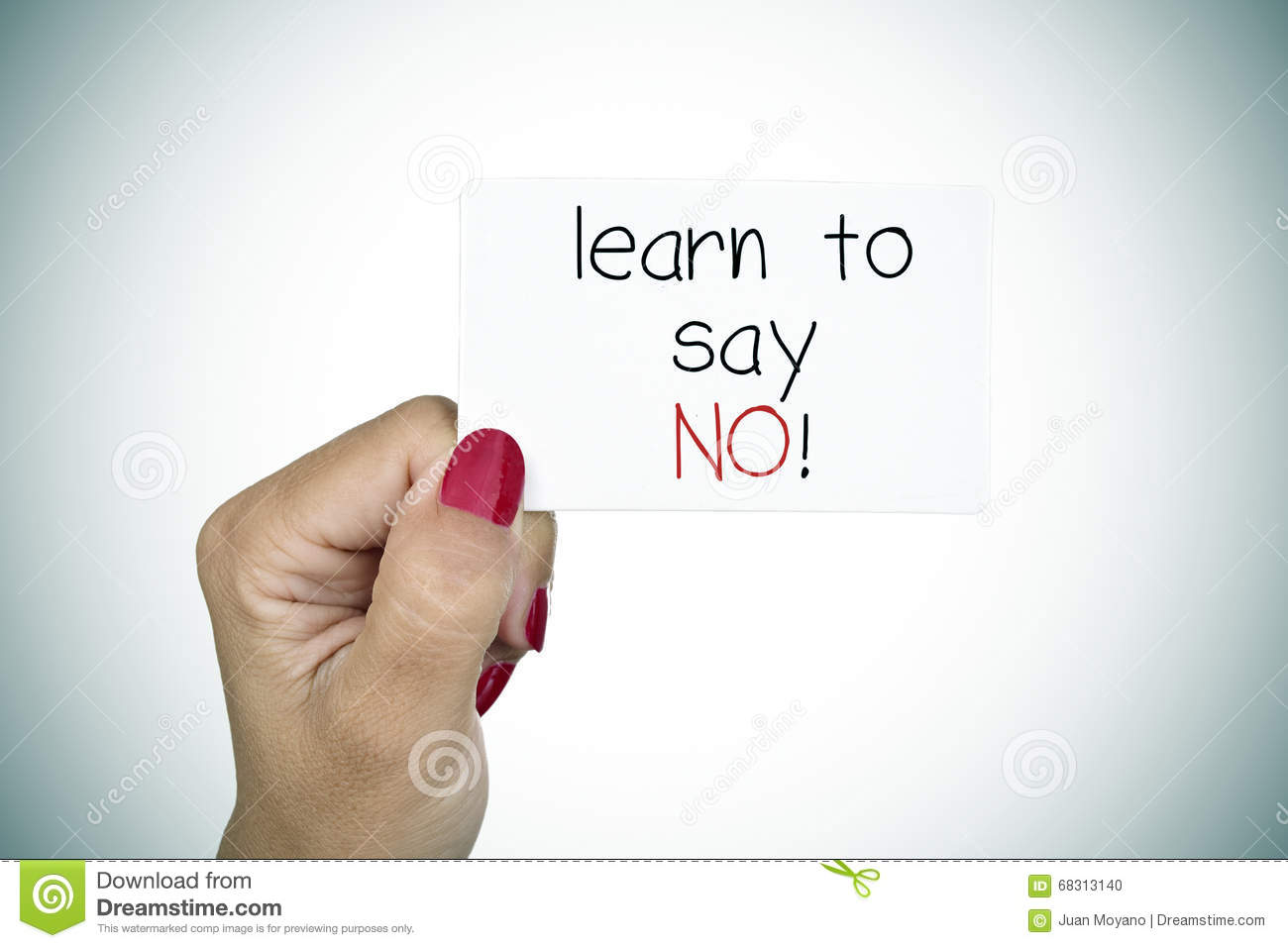 Signboard with the text learn to say no