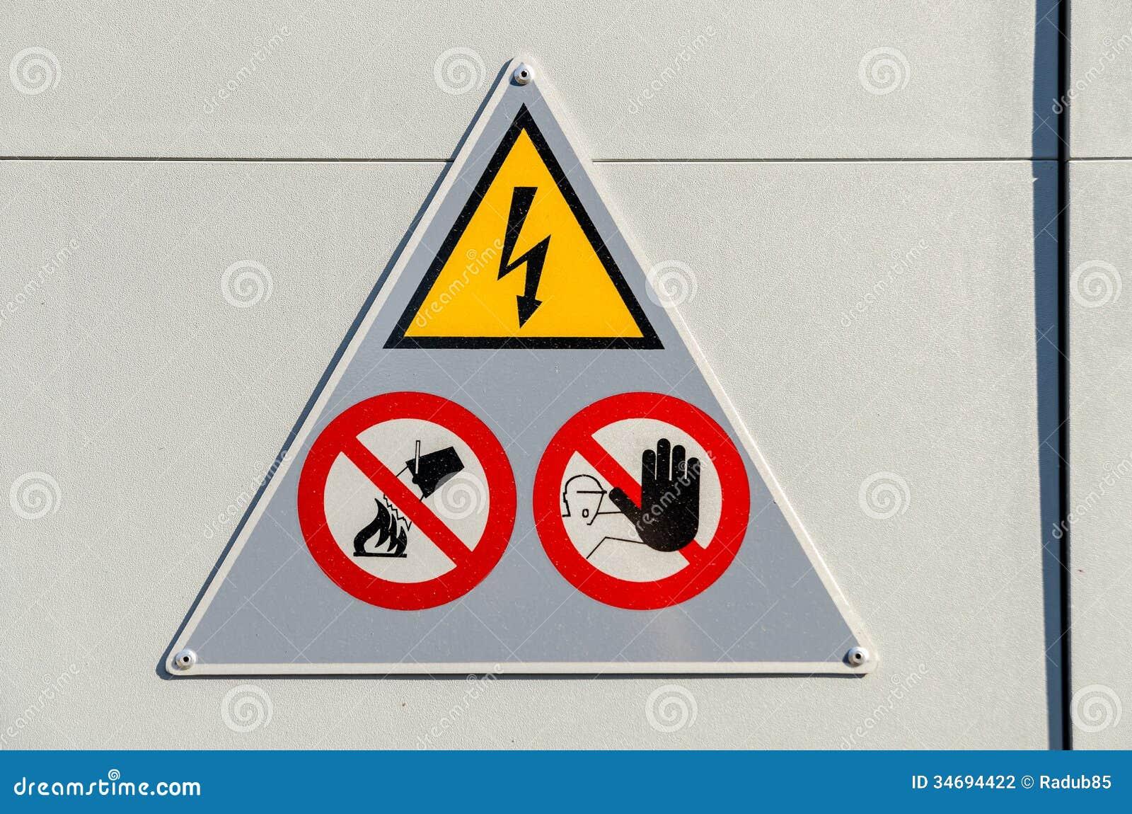 Signe à haute tension de danger