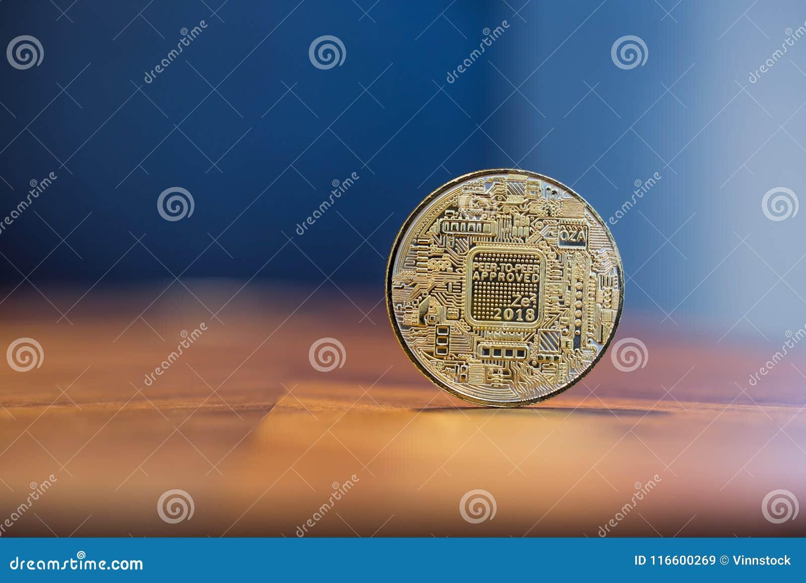 Signe électronique Bitcoin de Cryptocurrency avec le spac de copie de fond