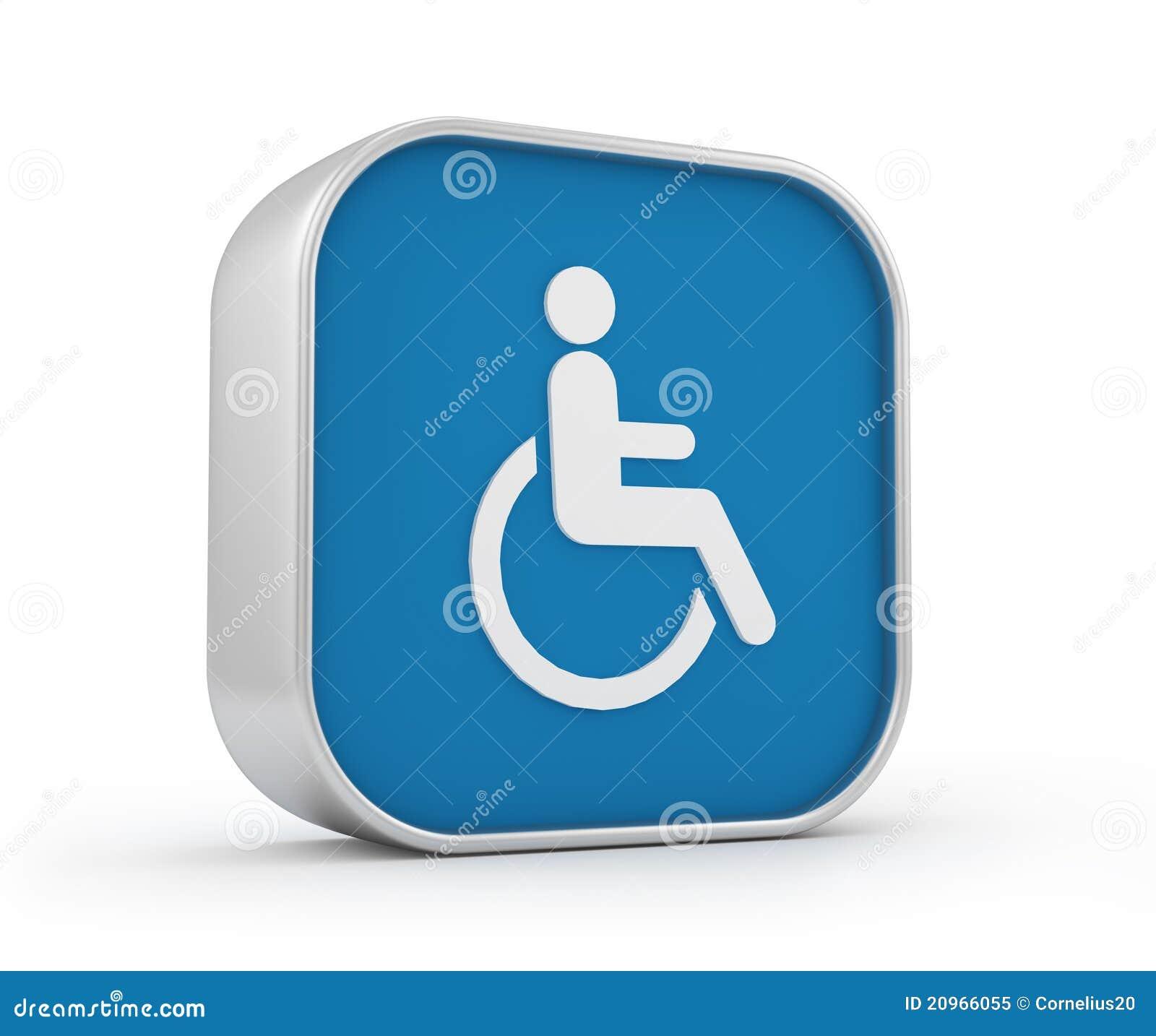 Signe 3d de fauteuil roulant