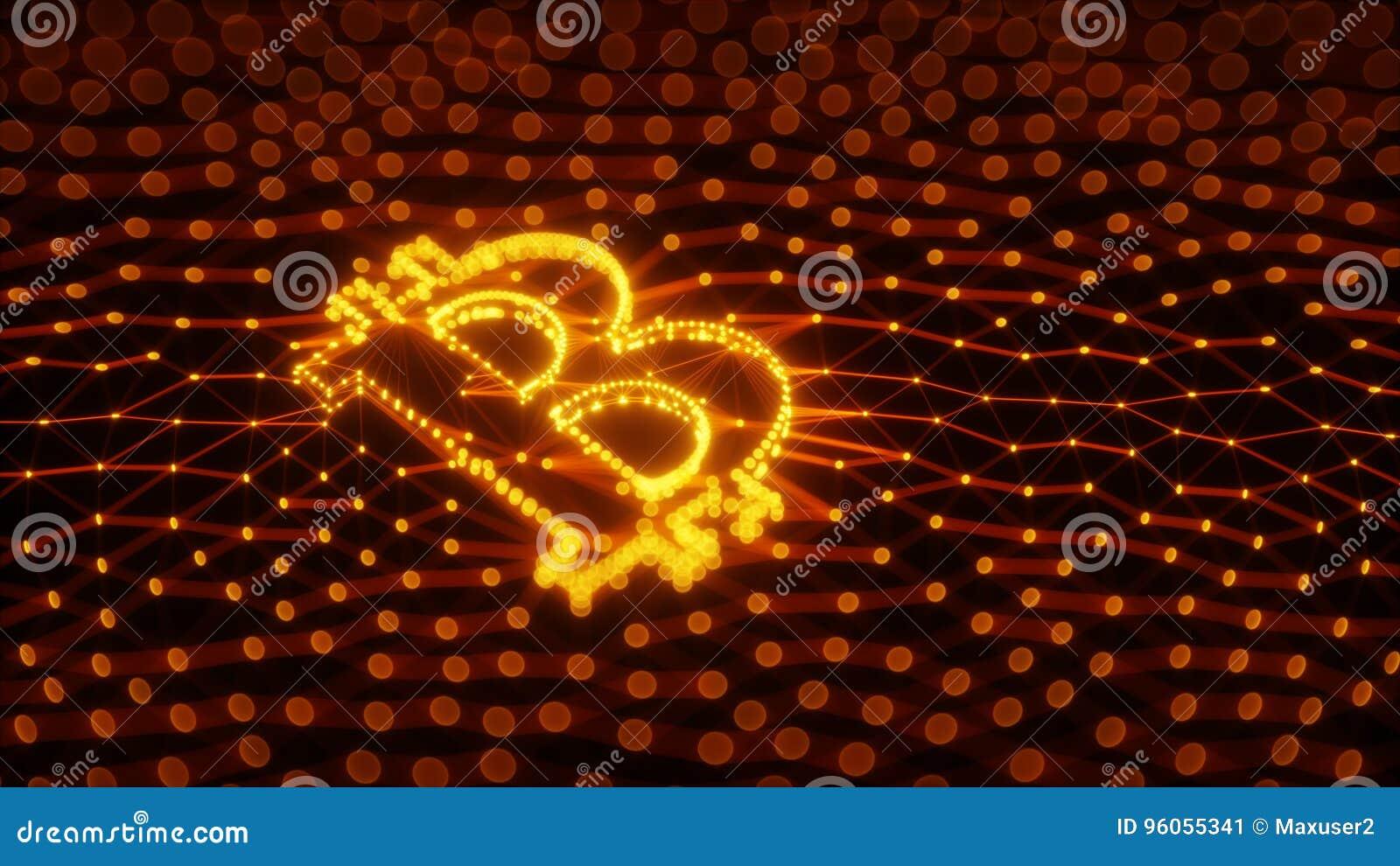 Signe abstrait de Bitcoin établi comme choix de transactions dans l illustration 3d conceptuelle de Blockchain