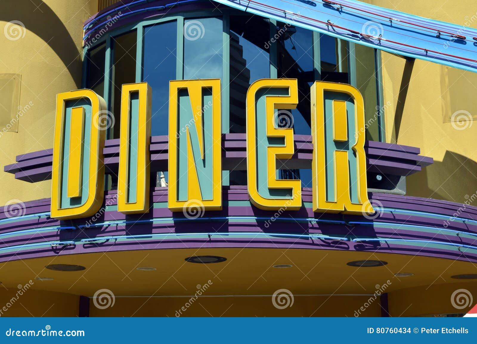 Signe américain de wagon-restaurant