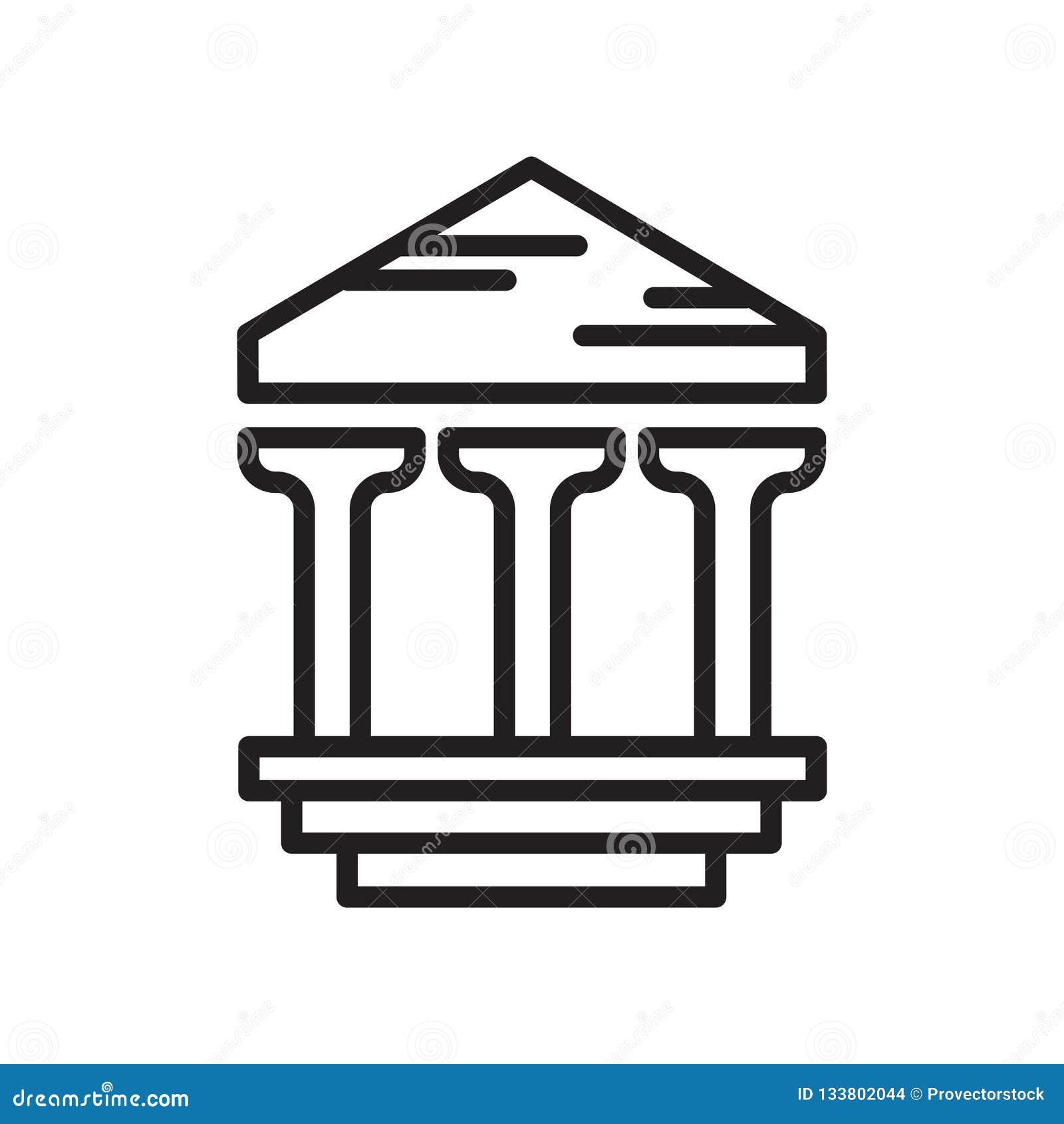 Signe archéologique et symbole de vecteur d icône d isolement sur le CCB blanc