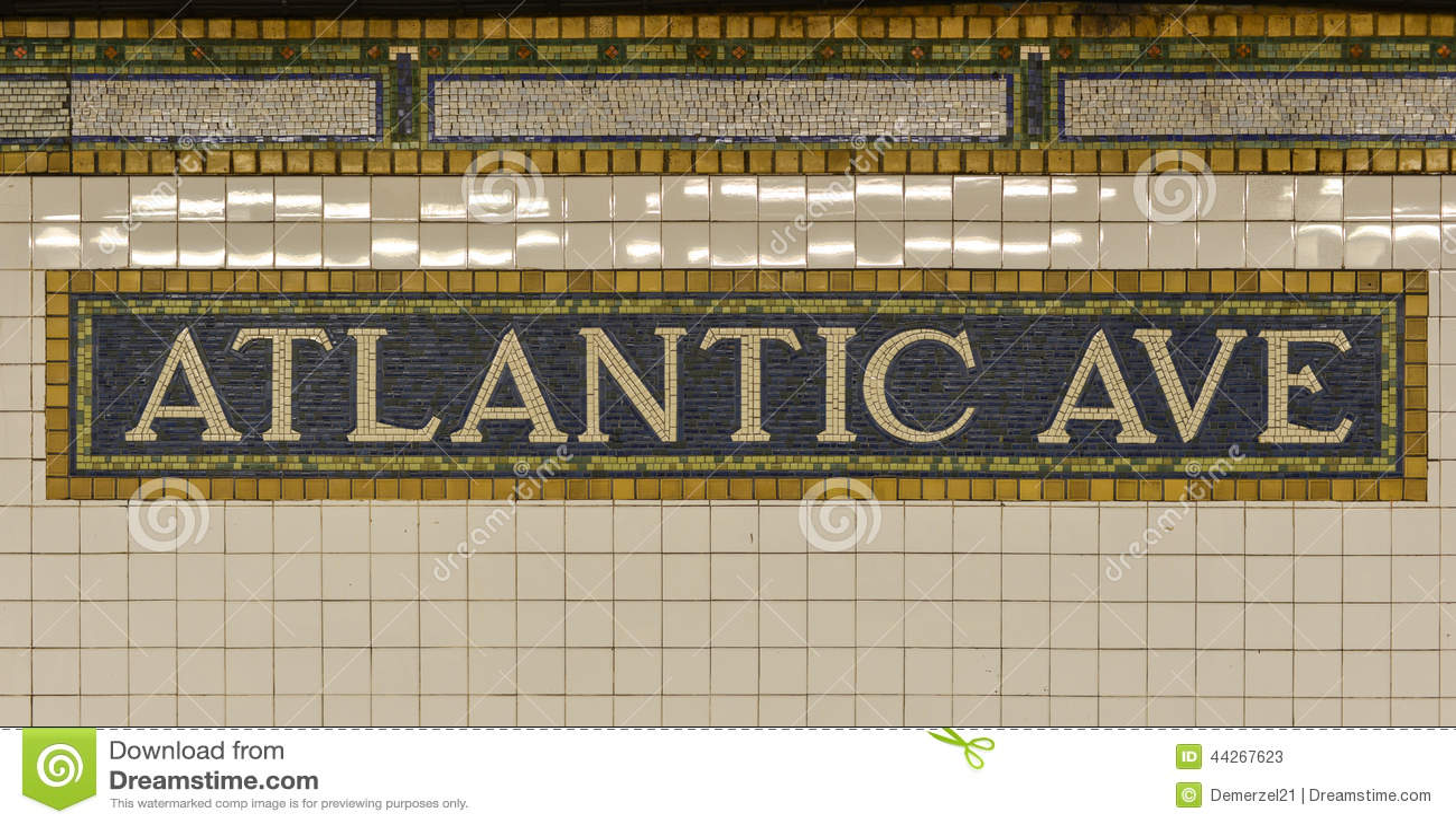 Signe atlantique de souterrain d avenue, Brooklyn, New York