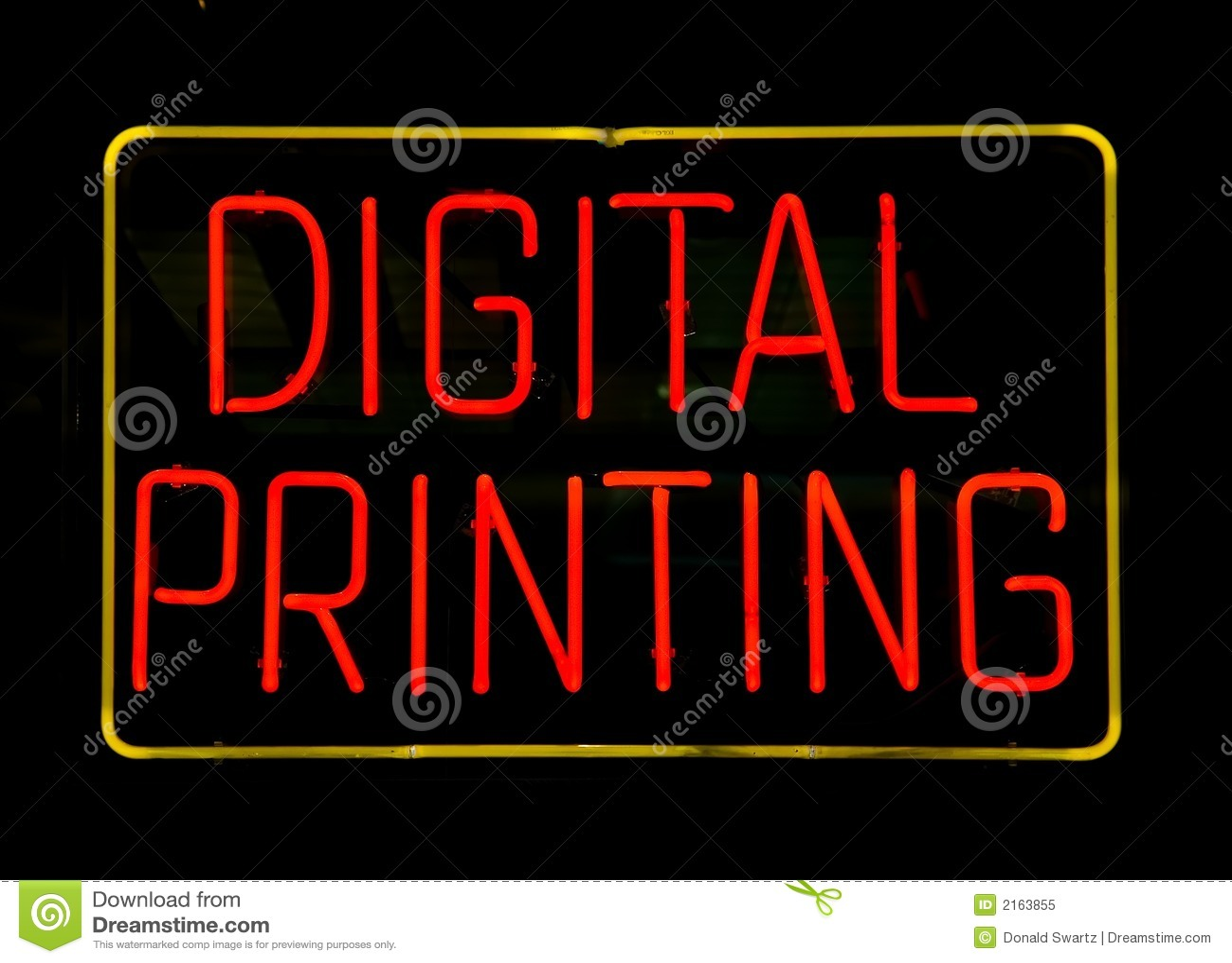 Signe au néon d impression de Digitals
