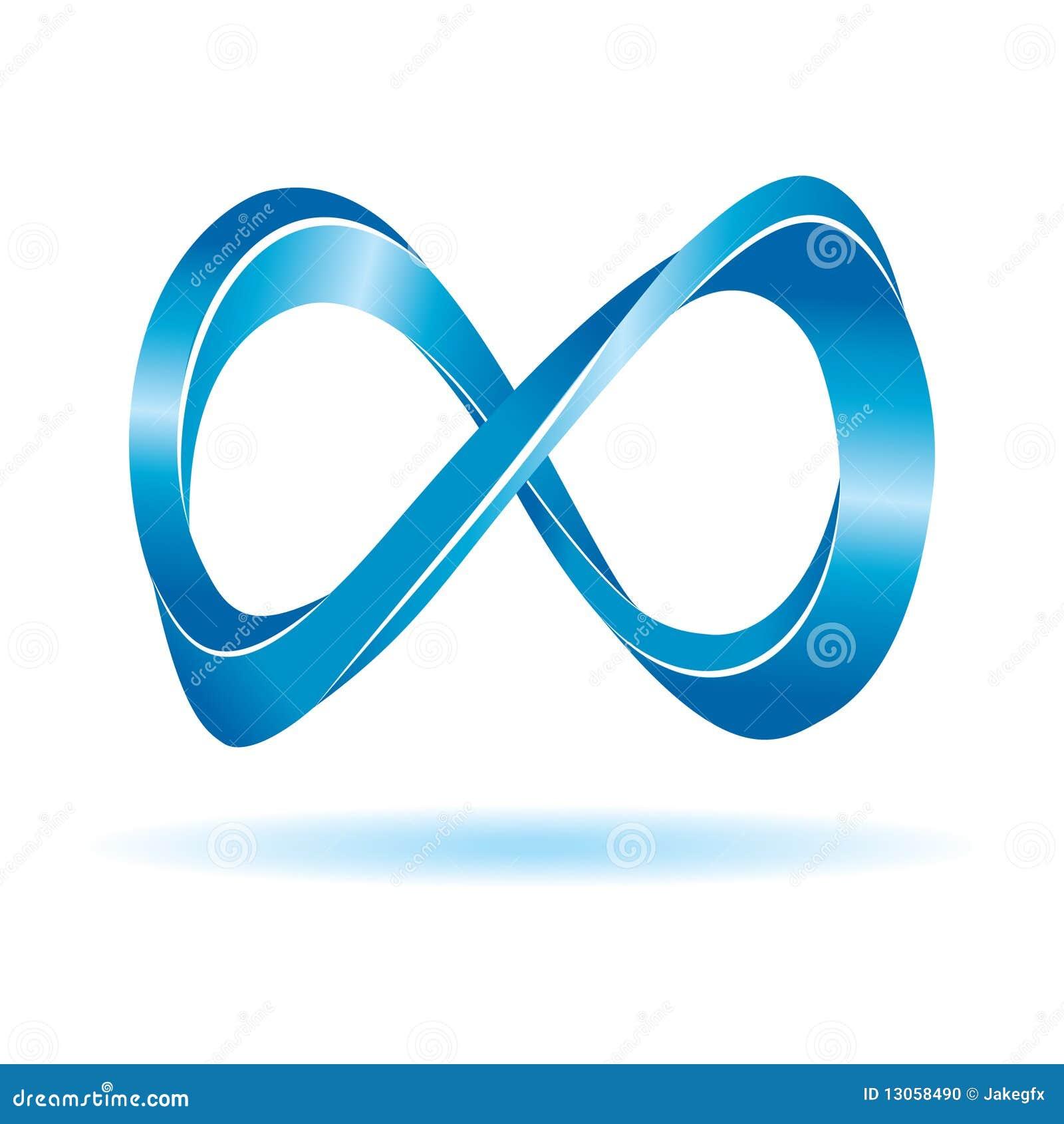 Signe bleu d 39 infini illustration de vecteur illustration du infini 13058490 - Le signe de l infini ...