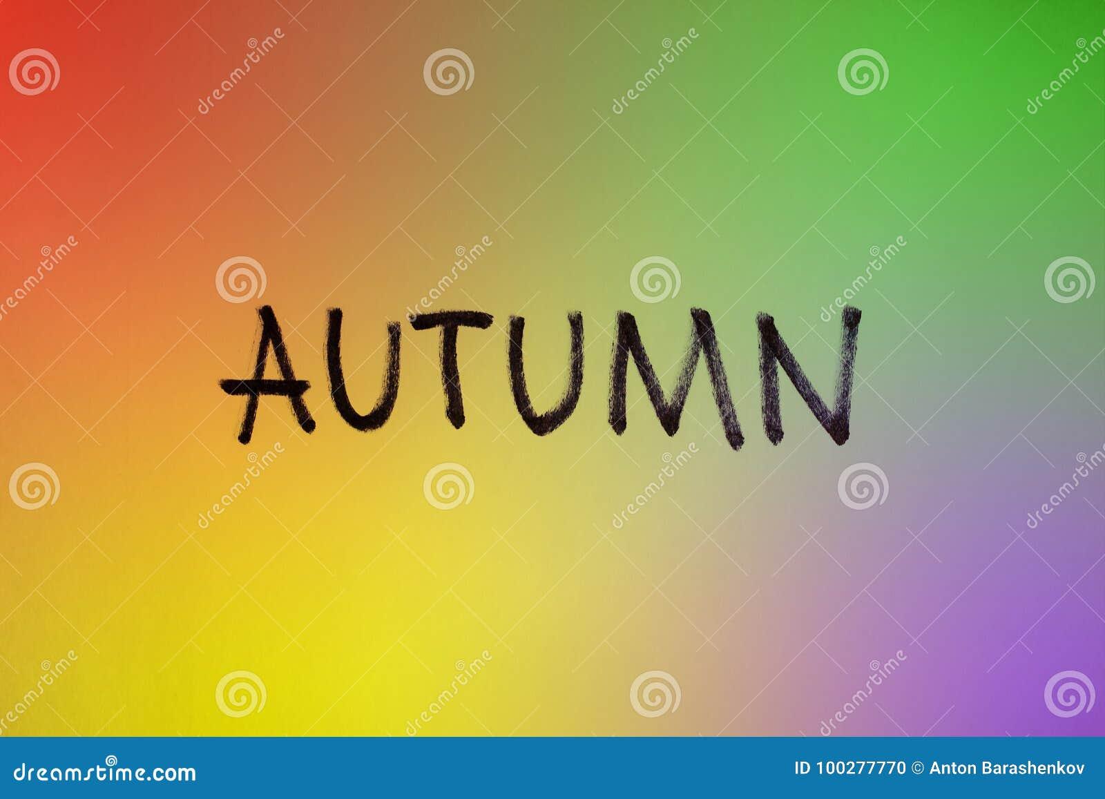 Signe coloré d automne