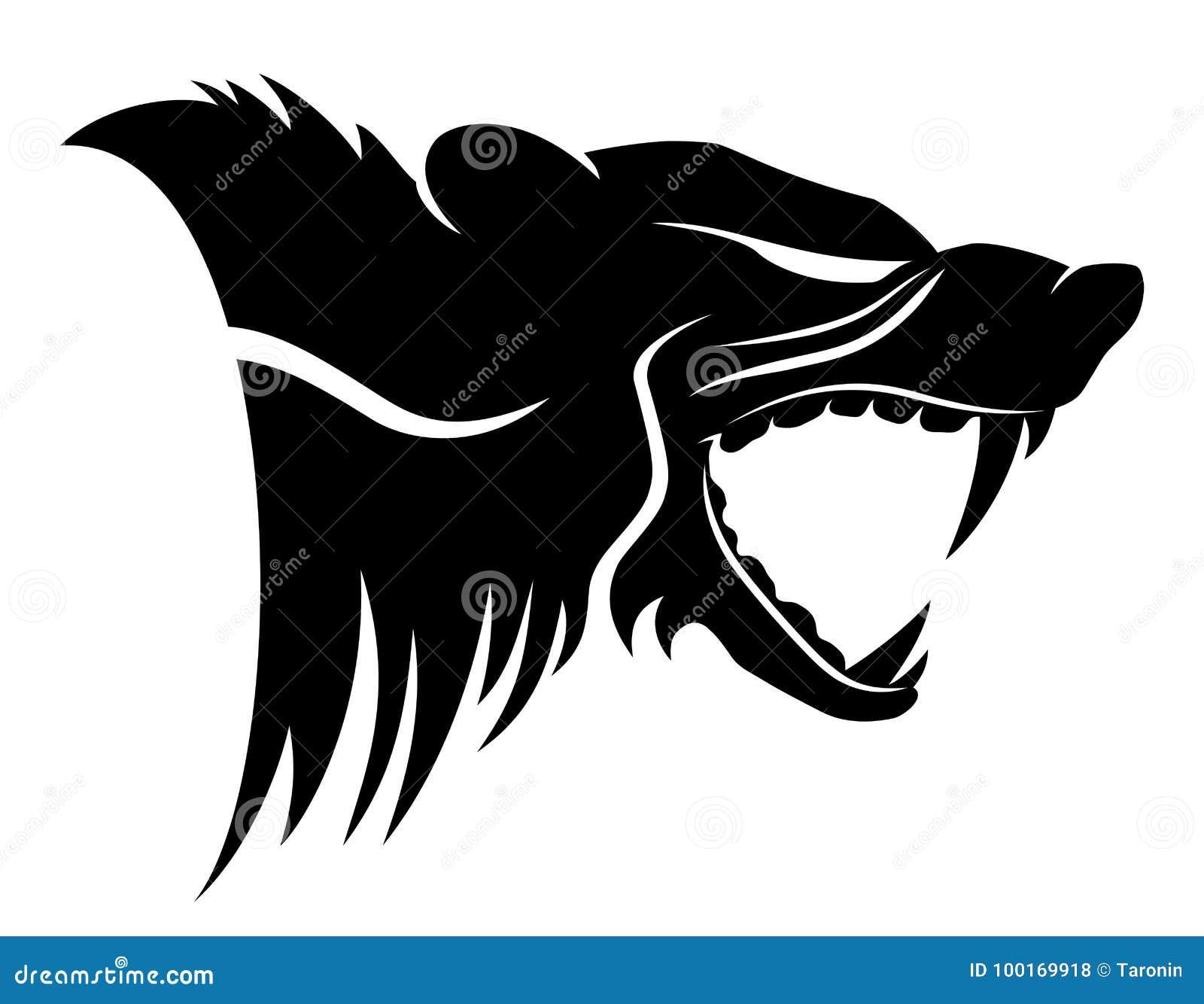 Signe D'animal De Wolverine Illustration de Vecteur ...