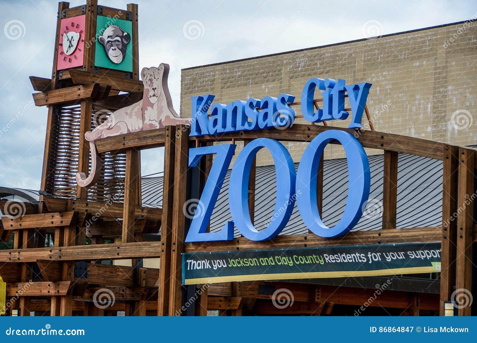 Signe d entrée de zoo de Kansas City
