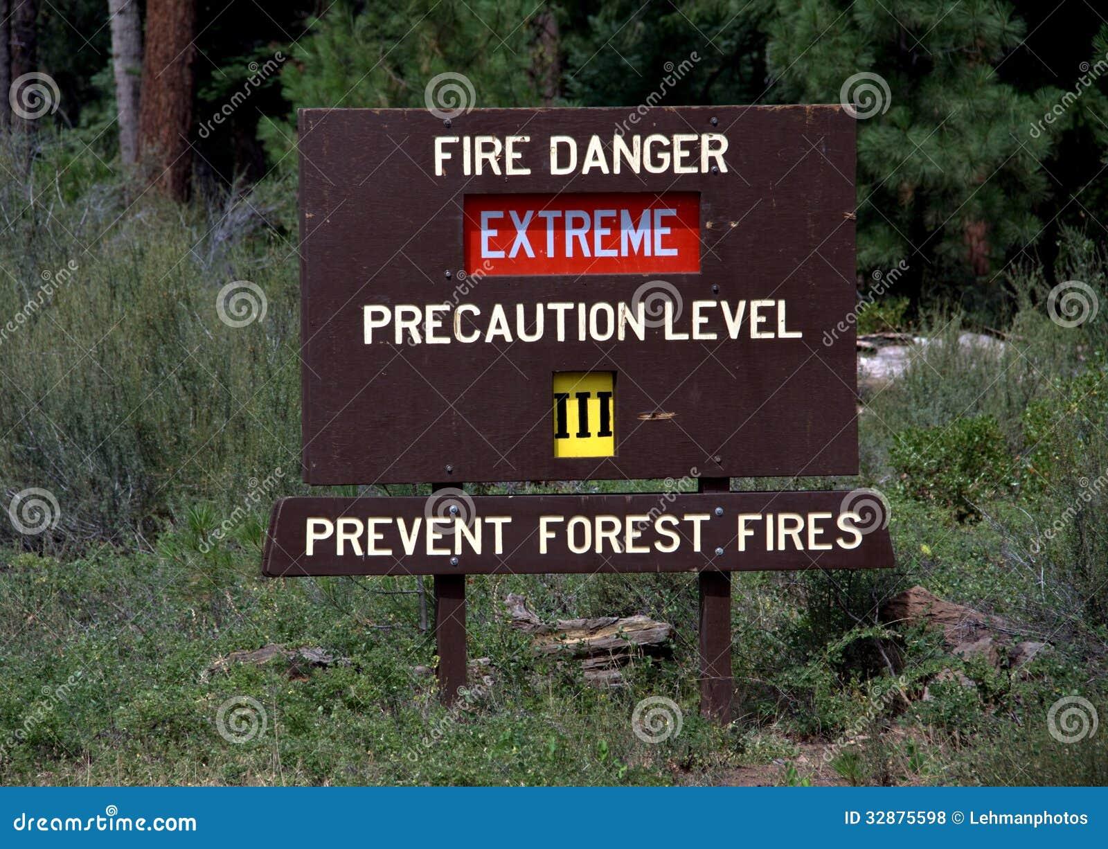 Signe d extrémité de danger du feu