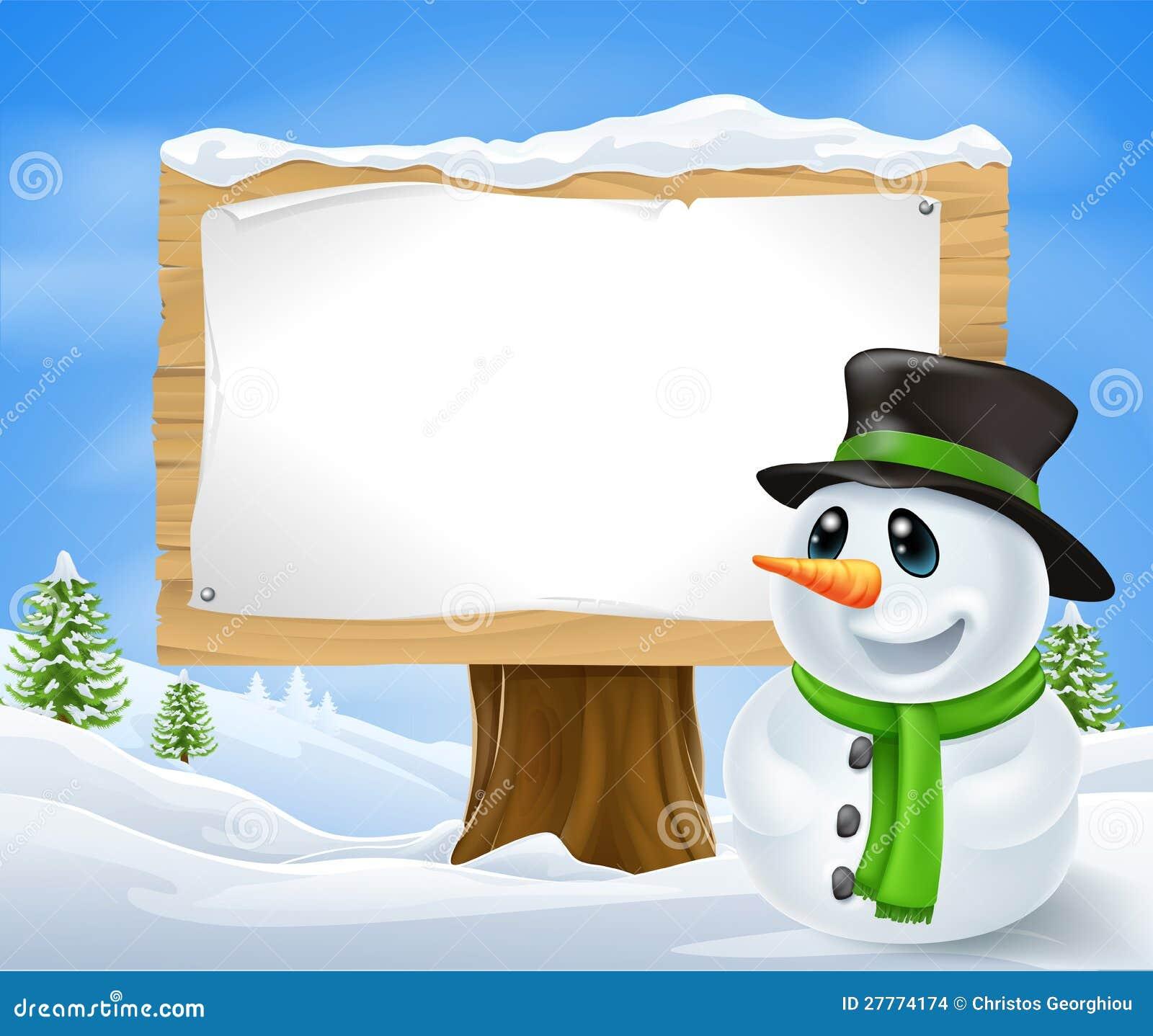 Signe de bonhomme de neige de Noël