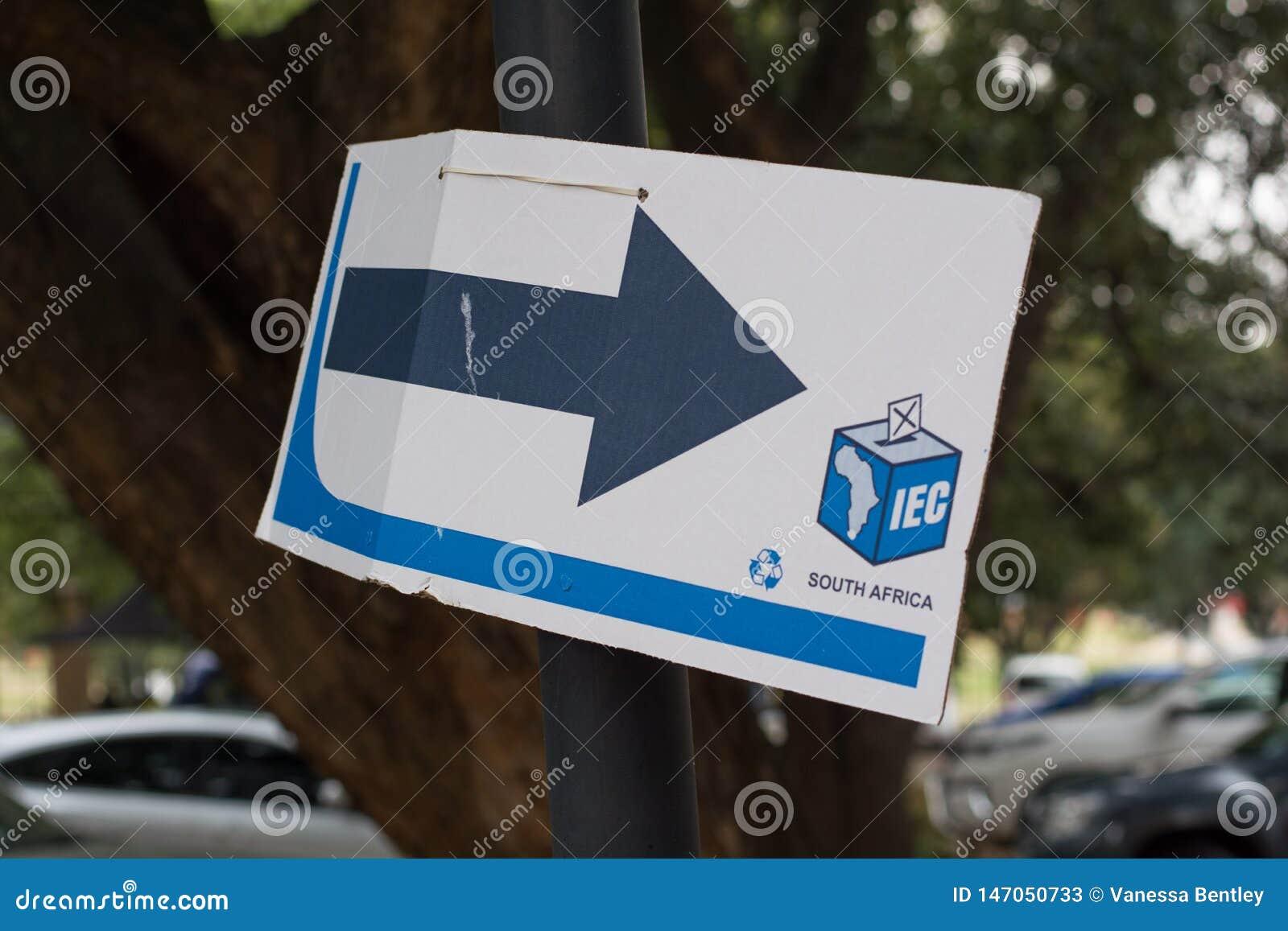 Signe de bureau de vote pour les ?lections nationales sud-africaines