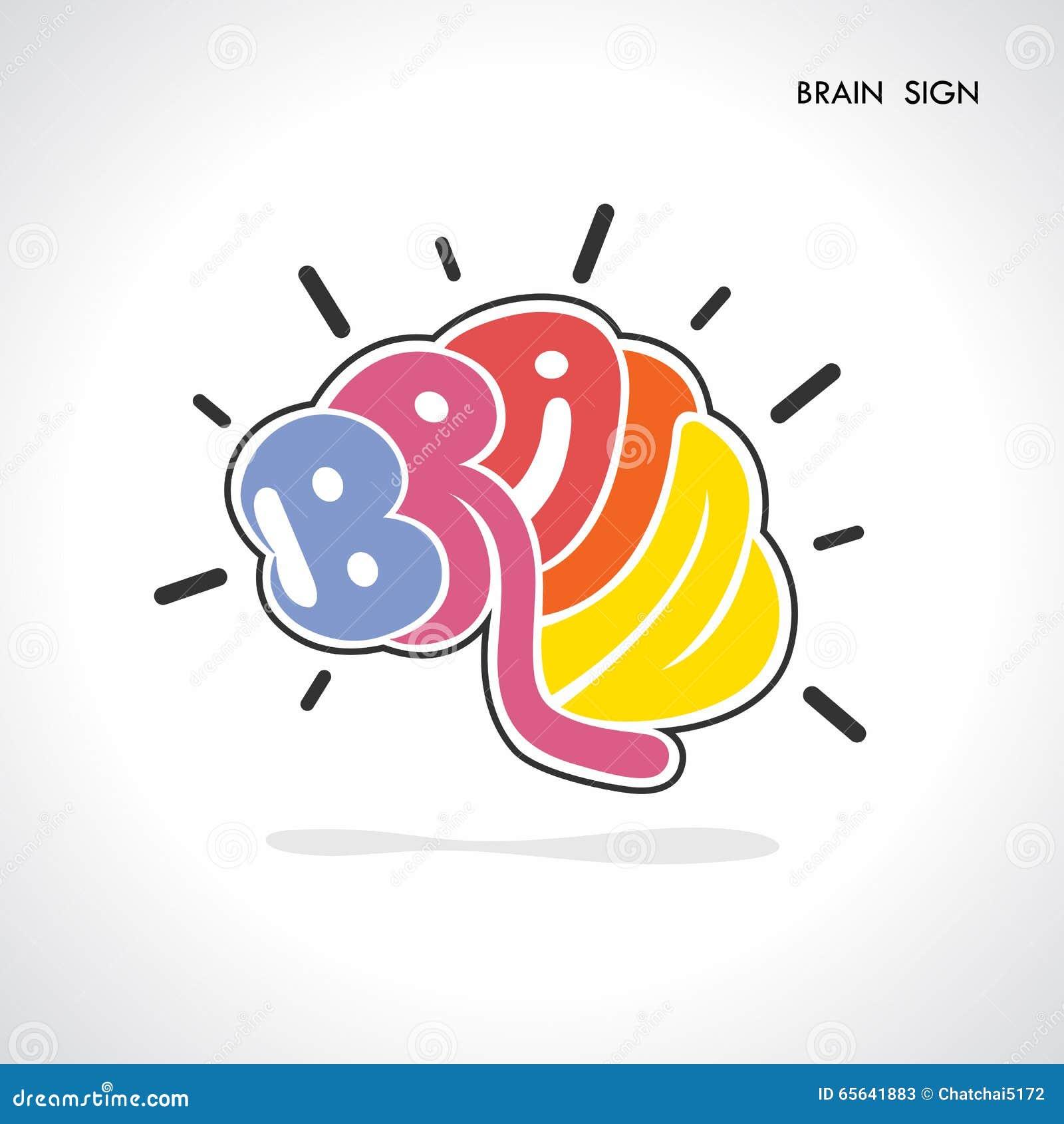 Signe de cerveau, affaires et concept créatifs d éducation