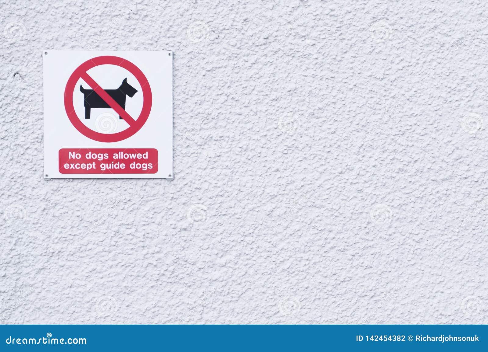 Signe de chiens de guide seul pour les abat-jour