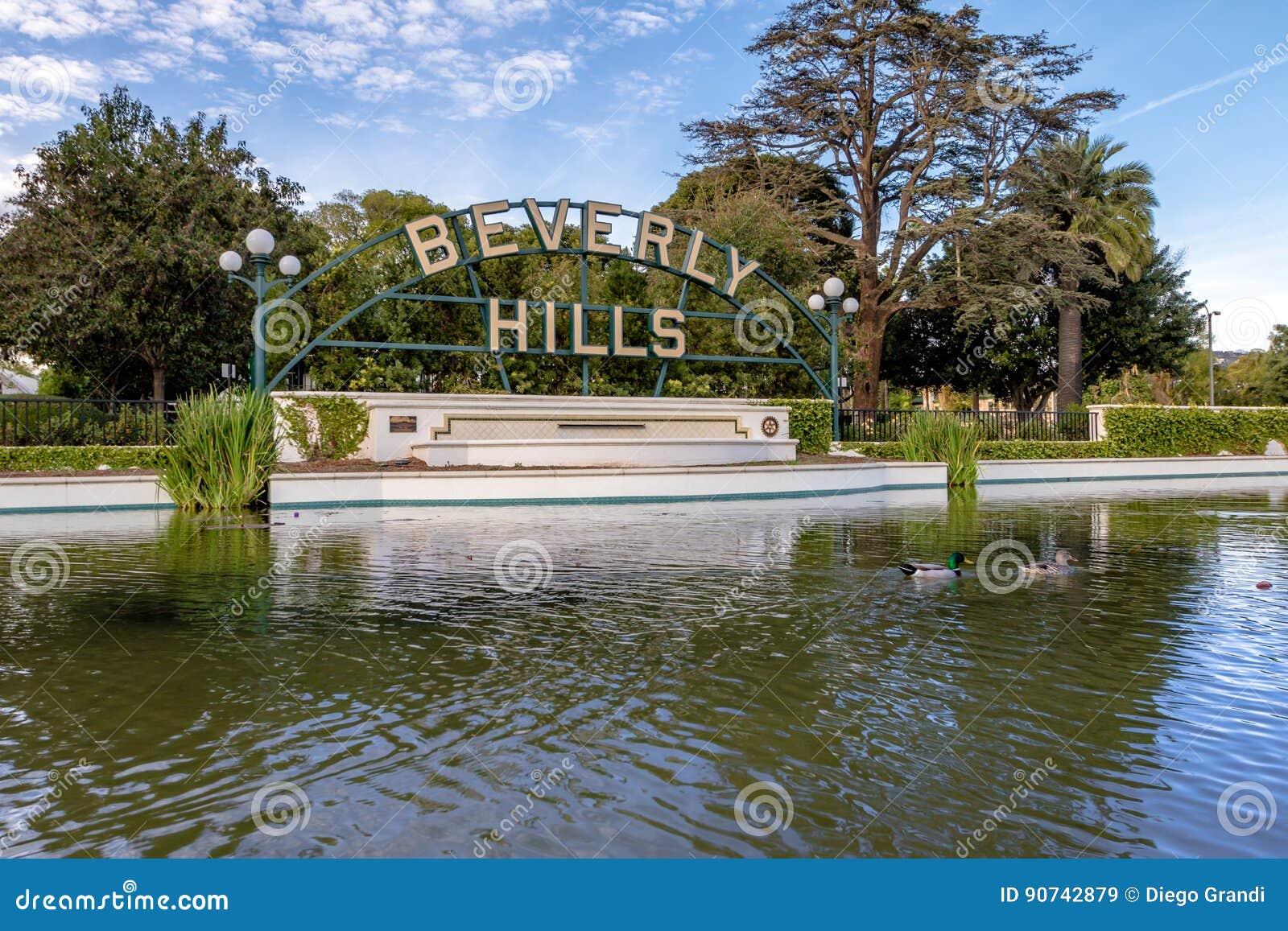 Signe de collines de Berverly - Los Angeles, la Californie, Etats-Unis