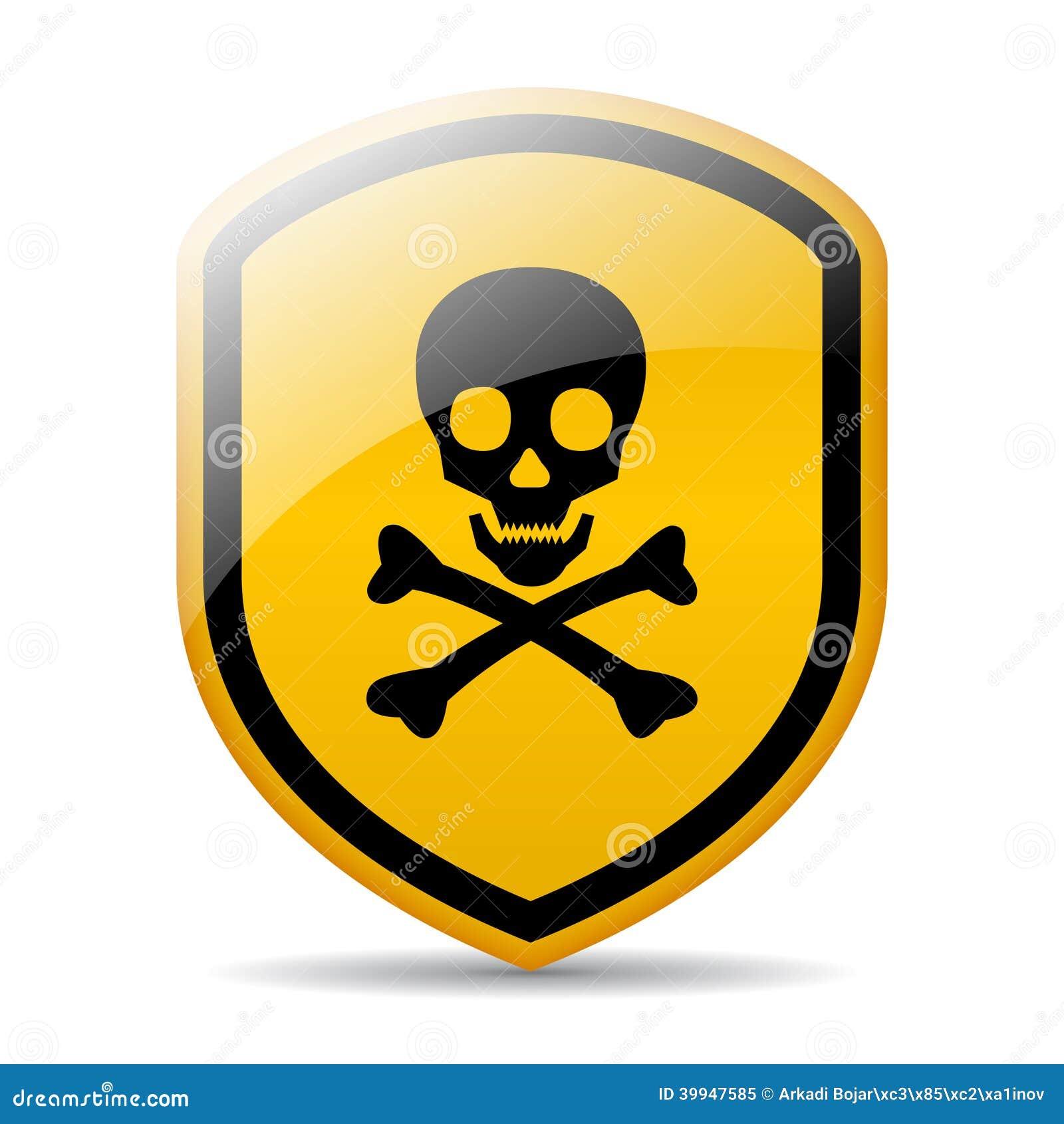 Signe de crâne de danger