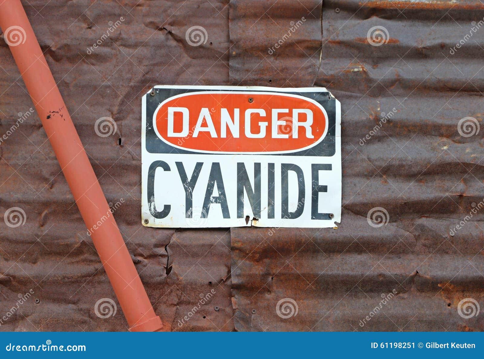 Signe de cyanure de danger