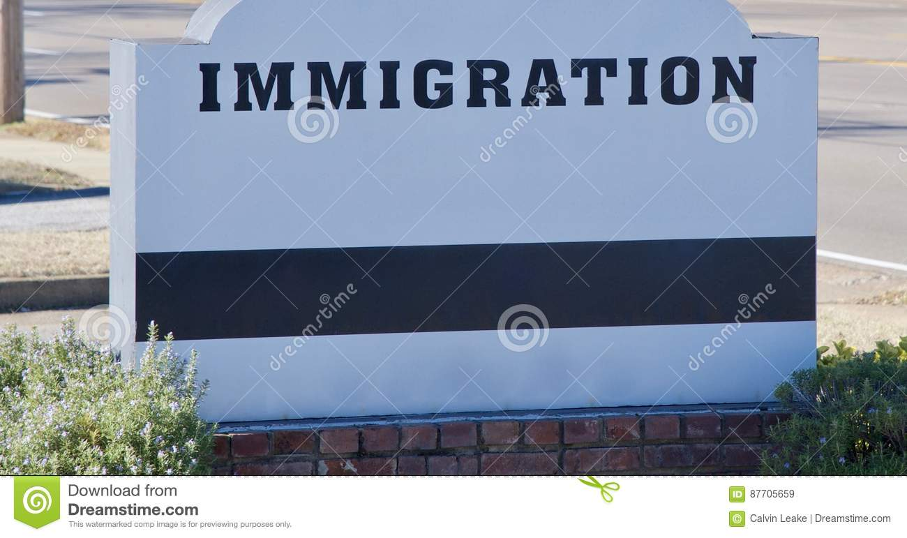 Signe de discussion d immigration
