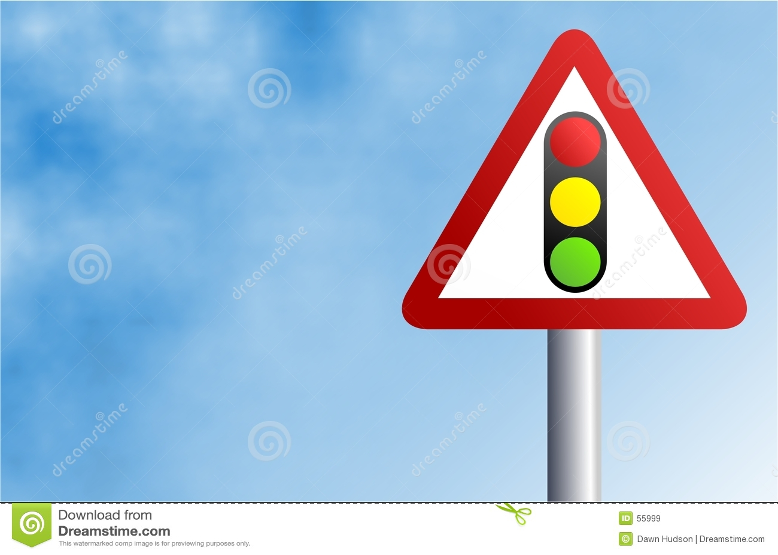 Signe de feu de signalisation