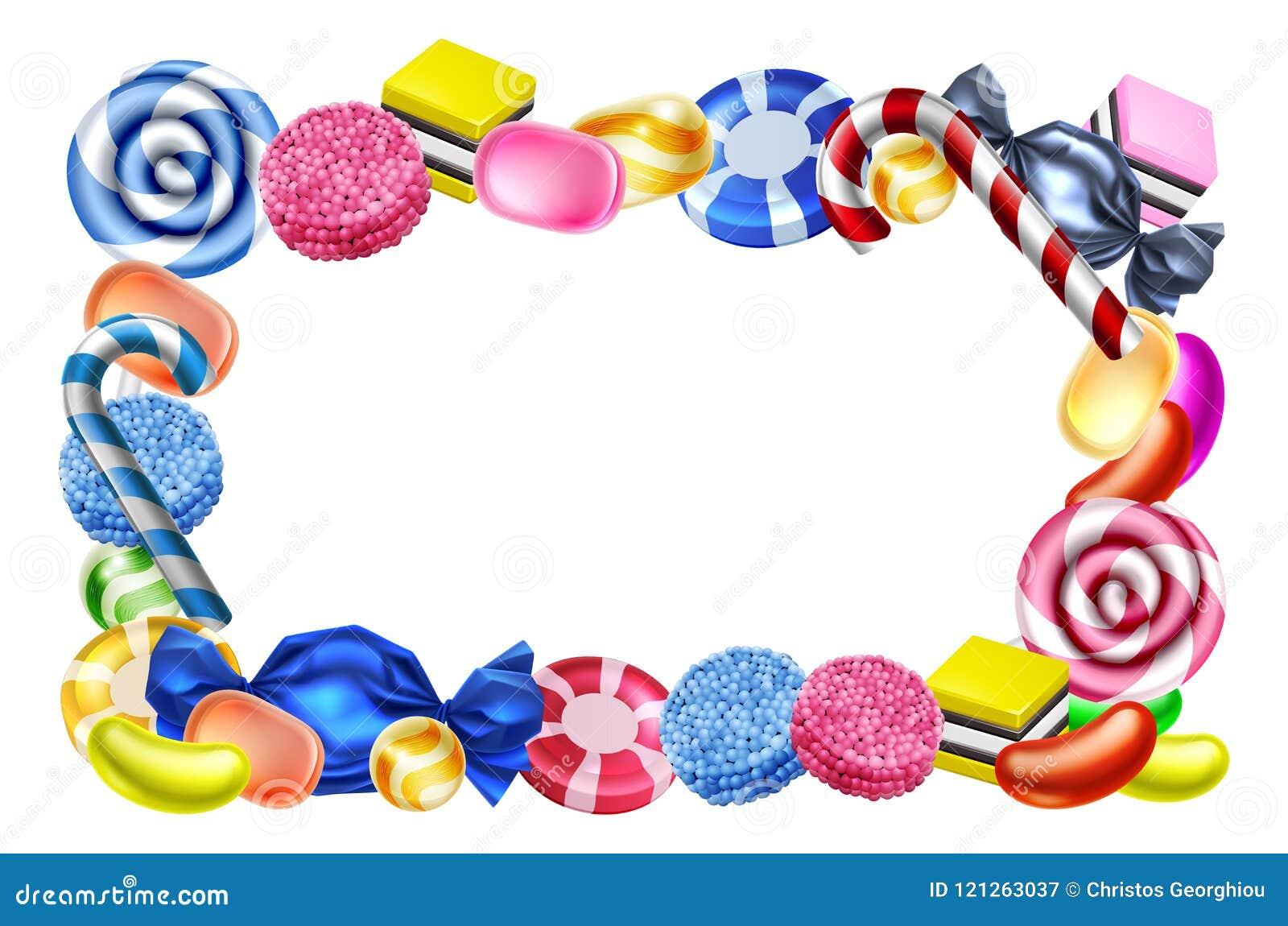 Signe de fond de cadre de bonbons à sucrerie