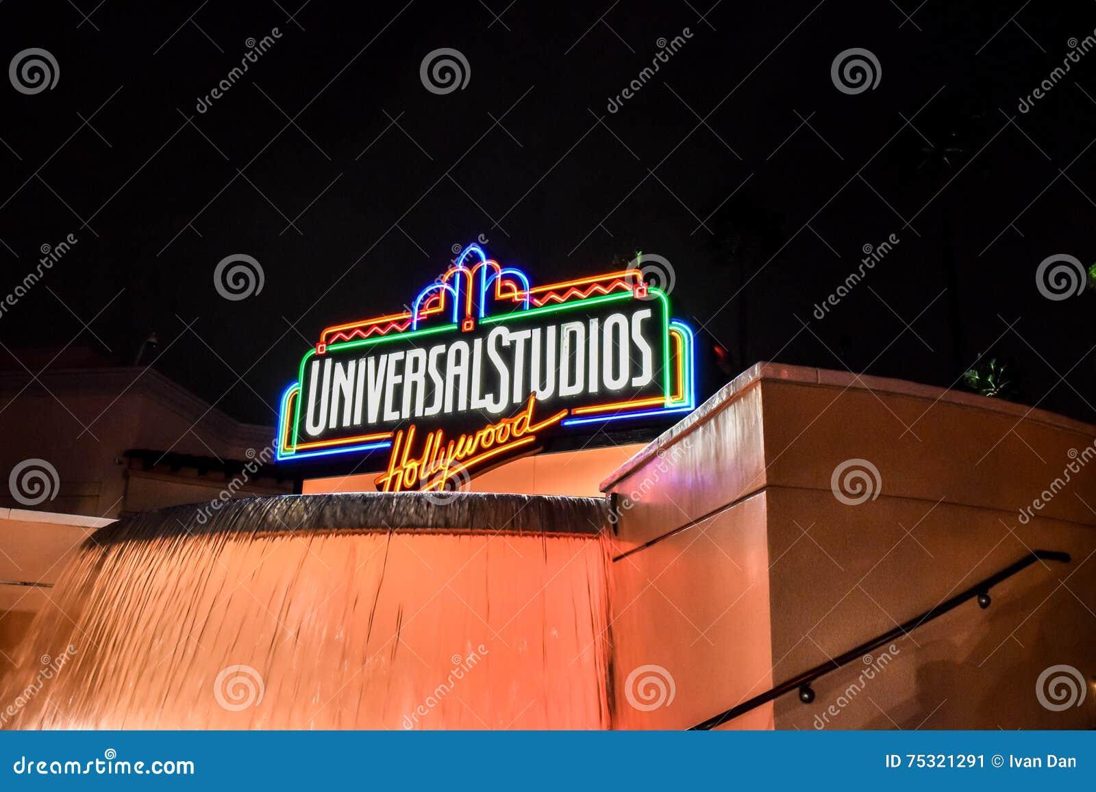Signe de Hollywood de studios universels