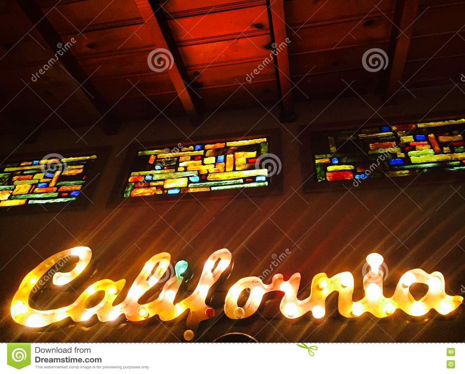 Signe de la Californie, verre souillé