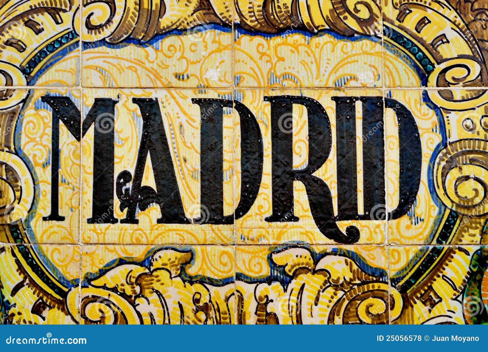 Signe De Madrid Photos libres de droits - Image: 25056578