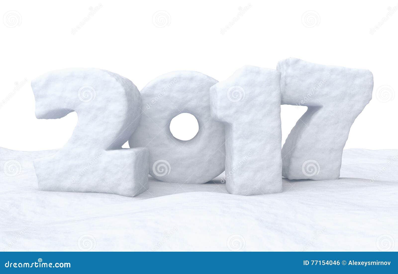 Signe de neige de 2017 bonnes années
