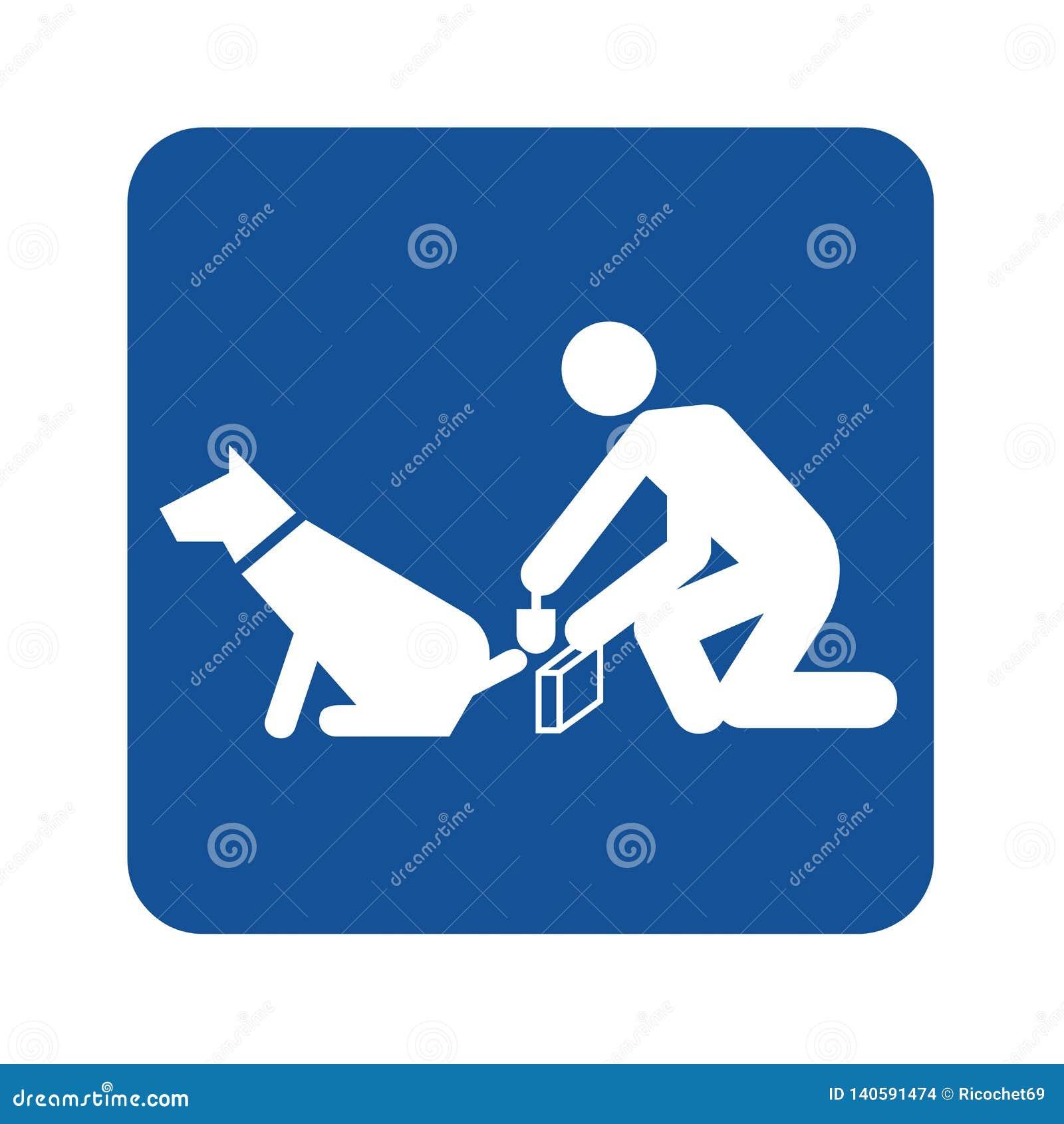 Signe de nettoyer après le chien pooping