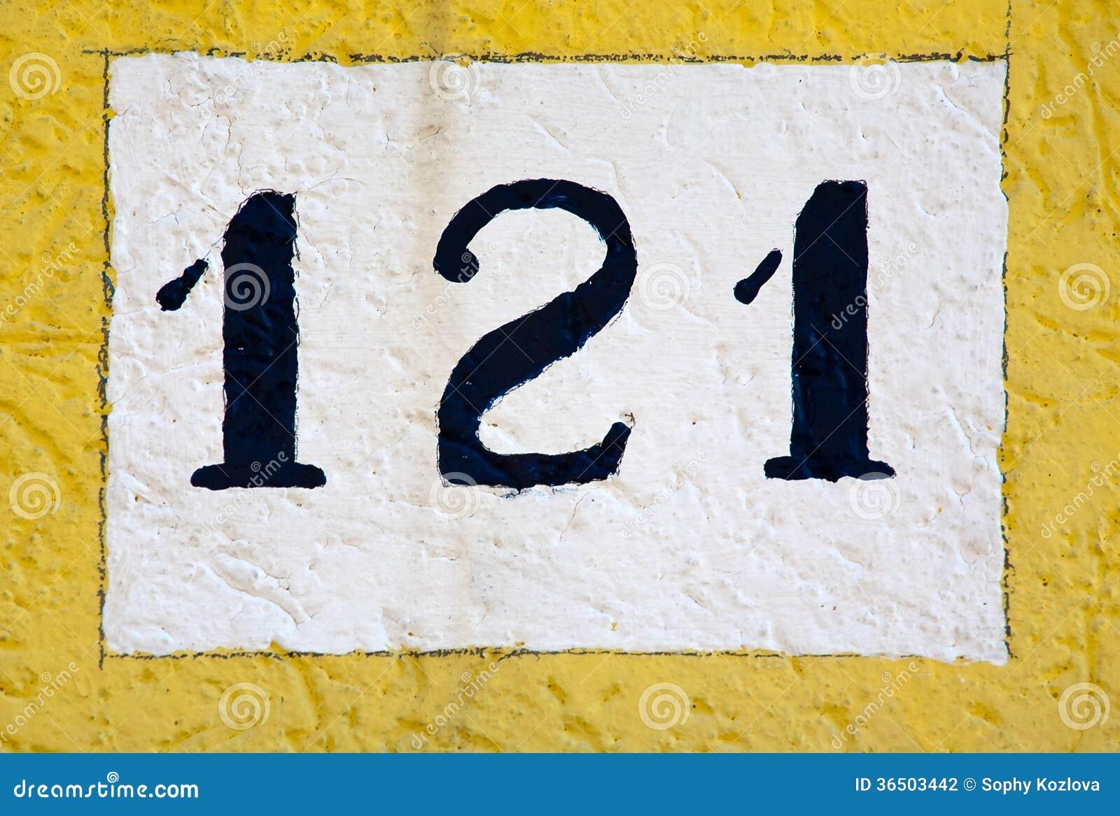 Signe de numéro de maison