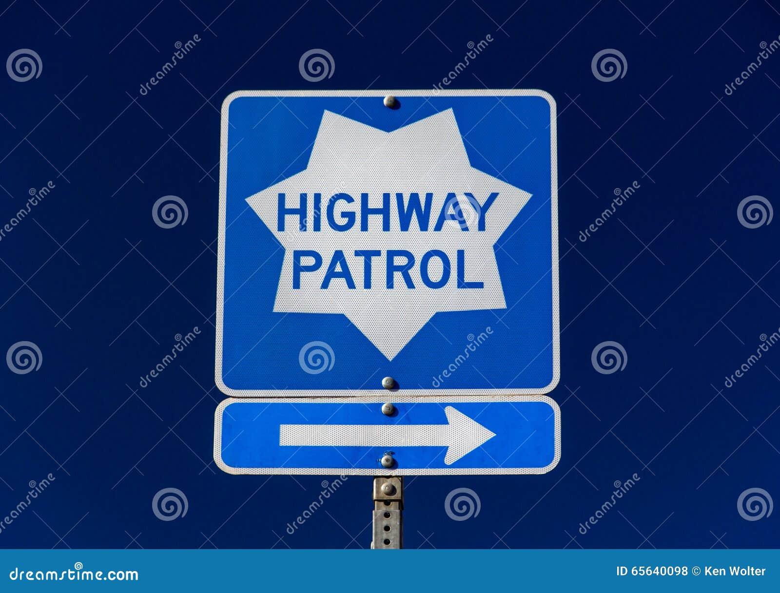 Signe de patrouille de route