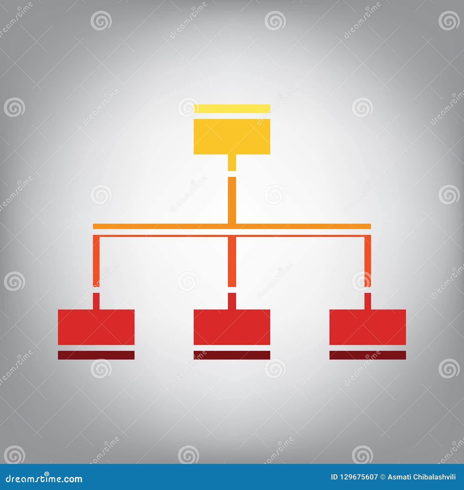 Signe de plan du site Vecteur Icône horizontalement découpée en tranches avec des couleurs de
