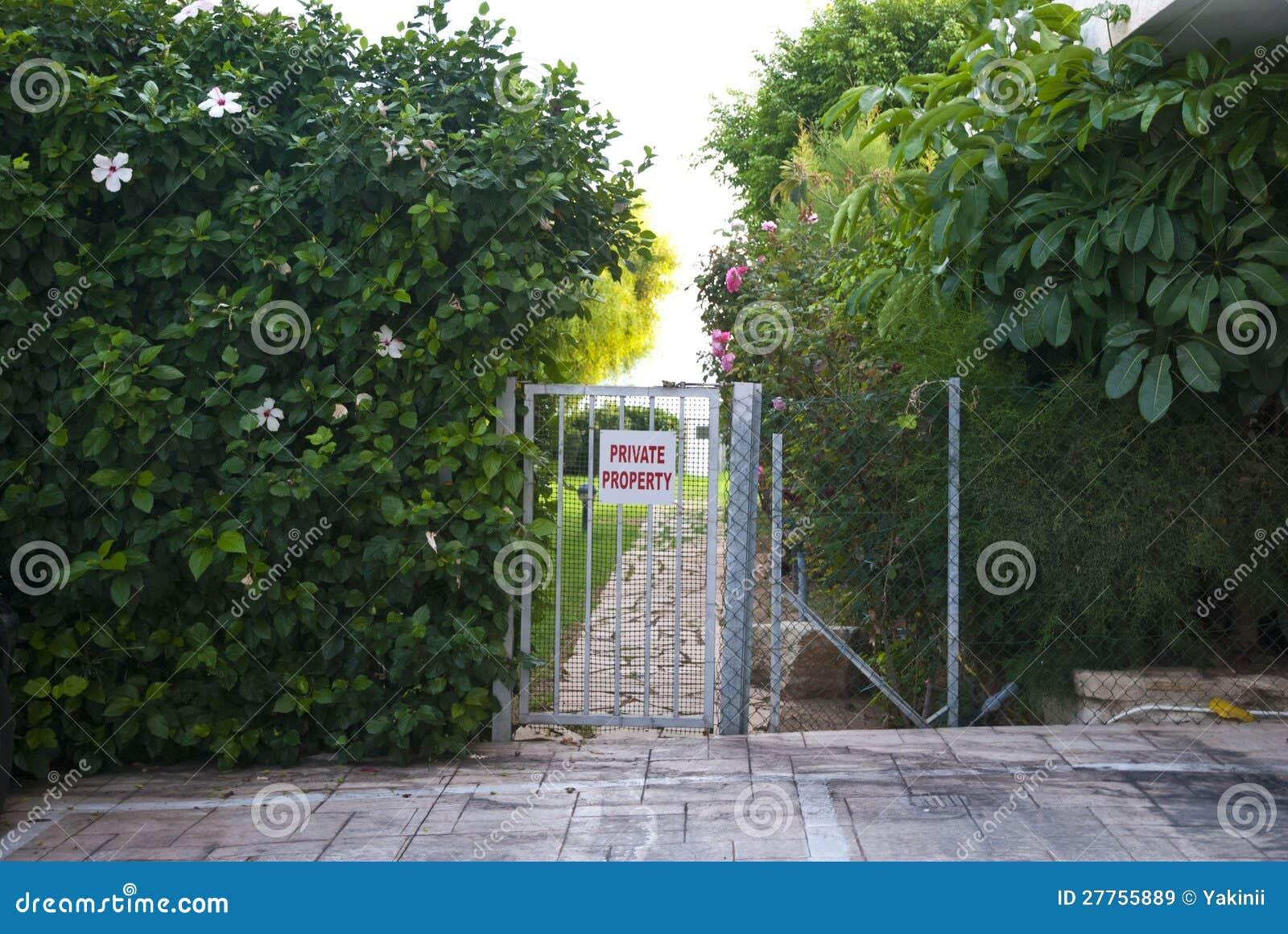 Signe de propriété privée