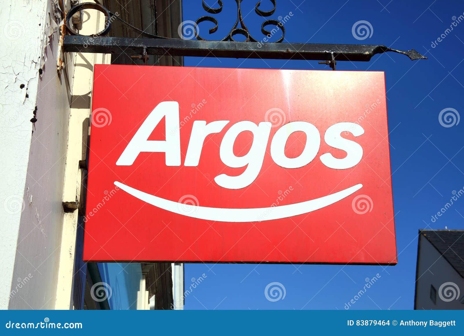 Signe de publicité de logo d Argos