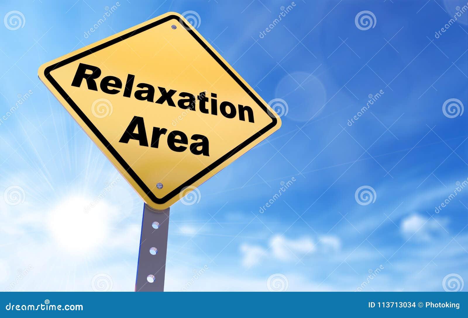 Signe de région de relaxation