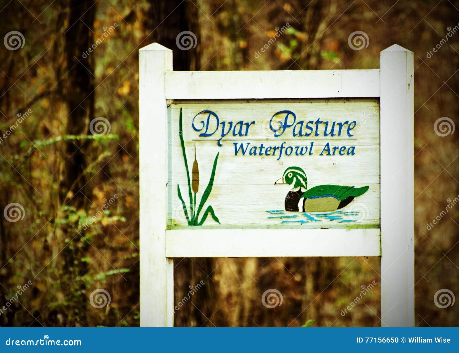 Signe de refuge d oiseaux aquatiques de pâturage de Dyar