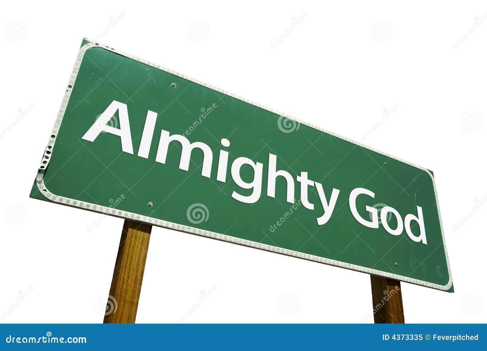 Signe de route tout-puissant de Dieu