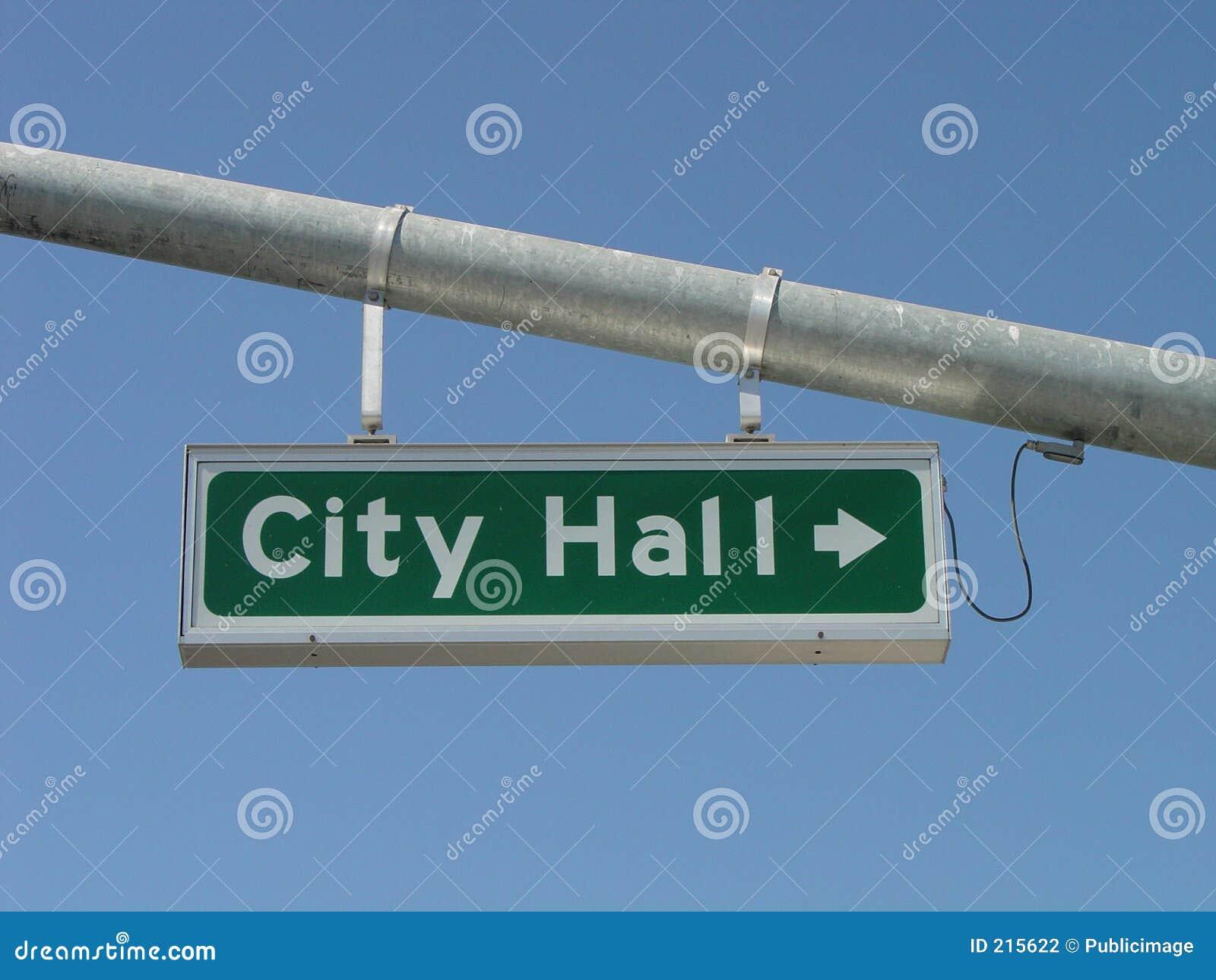 Signe de rue d hôtel de ville