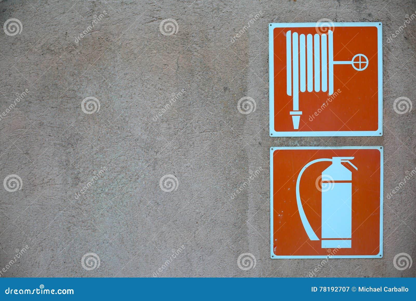 Signe de sécurité incendie