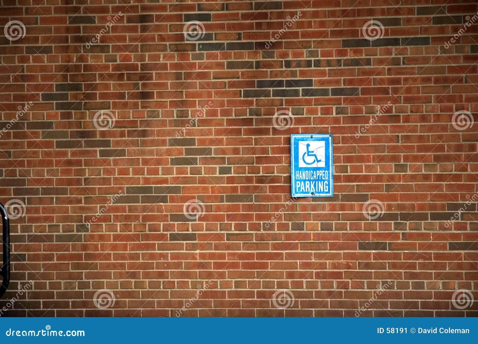 Signe de stationnement handicapé