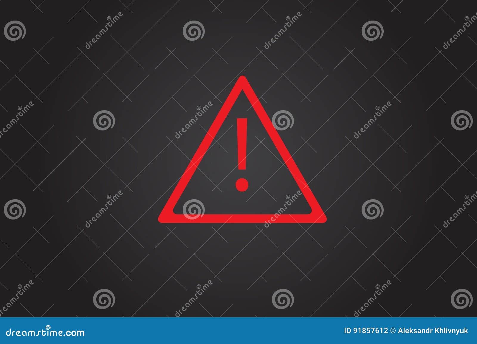 Signe De Tableau De Bord De Triangle De Voiture Illustration Stock - Illustration du bouton ...