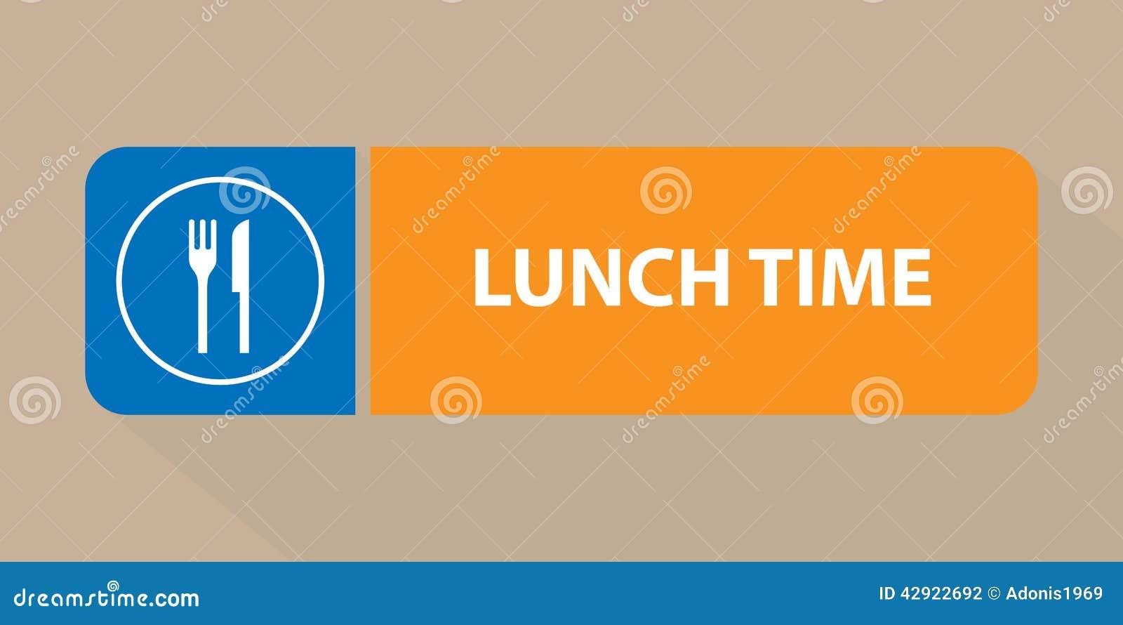 Signe de temps de déjeuner