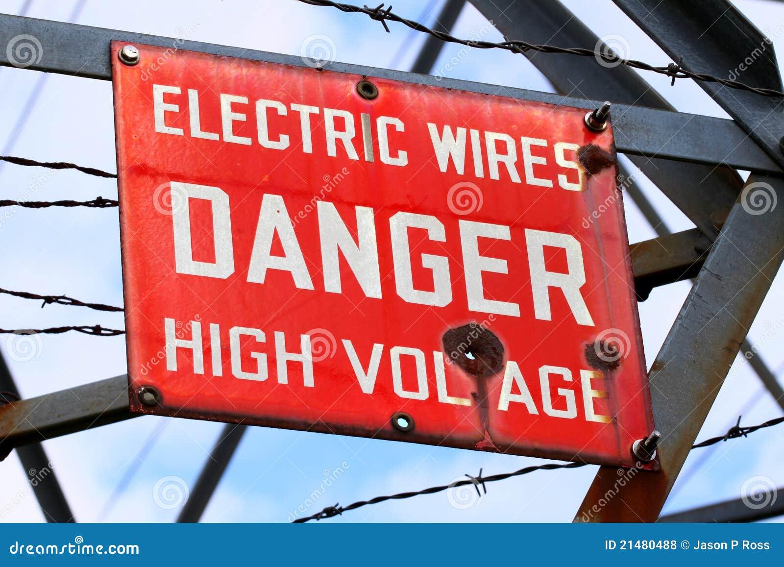 Signe de tension de danger