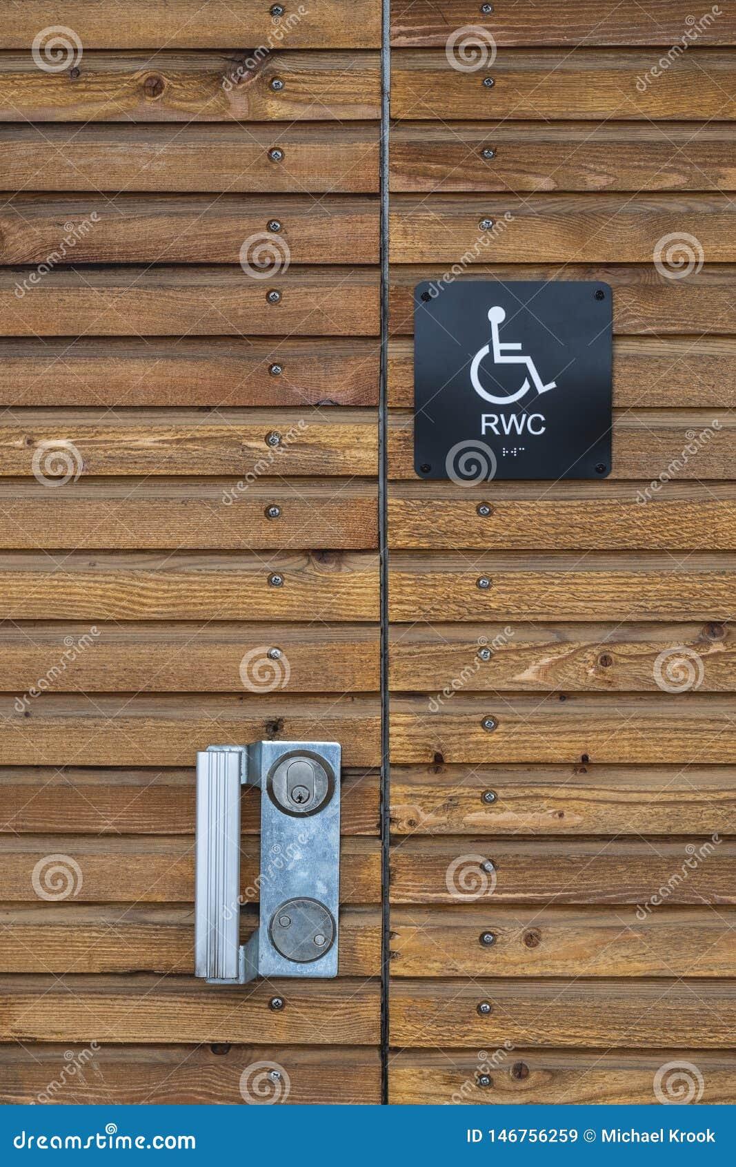 Signe de toilette d handicap